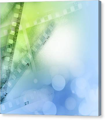 Filmstrips Canvas Print by Les Cunliffe