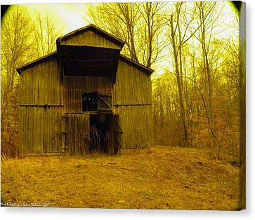 Canvas Print featuring the photograph Filtered Barn by Nick Kirby