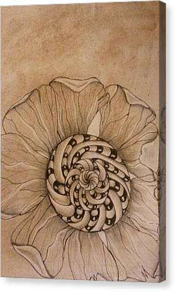 Filtered Flower Canvas Print by Lori Thompson