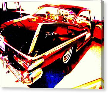 Fin Of Fury In A Plymouth Fashion Canvas Print by Don Struke