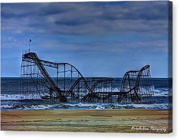 Jetstar Roller Coaster Canvas Print - Final Farewell by Michelle Nixon