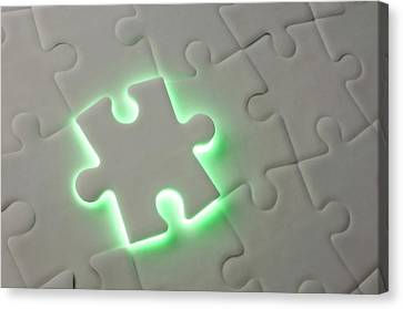 Final Piece Of The Puzzle Canvas Print by Crown Copyright/health & Safety Laboratory Science Photo Library