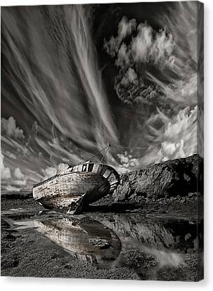 Tear Canvas Print - Final Place (mono) by ?orsteinn H. Ingibergsson
