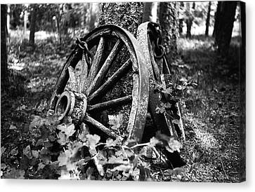 Wagon Wheels Canvas Print - Final Rest by Aaron Aldrich
