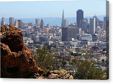 Financial District From Corona Heights Canvas Print by Robert Woodward