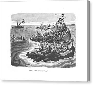 Marine Canvas Print - Find Out Who's In Charge by Robert J. Day