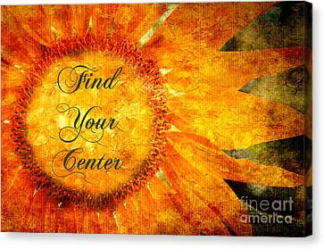 Find Your Center  Canvas Print by Andee Design