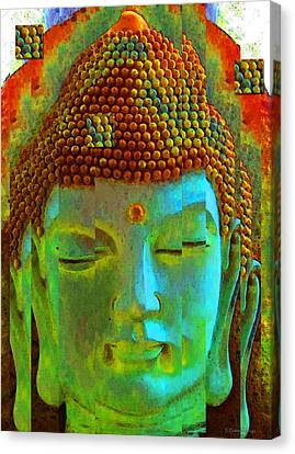 Finding Buddha - Meditation Art By Sharon Cummings Canvas Print by Sharon Cummings