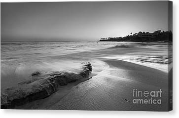 Finding Serenity Bw Canvas Print by Michael Ver Sprill