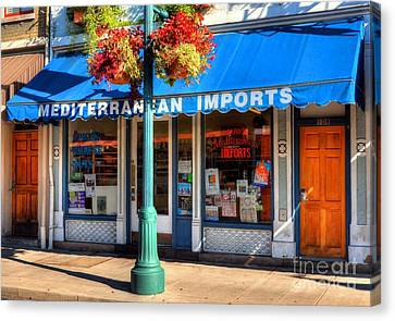 Grocery Store Canvas Print - Findlay Market Imports by Mel Steinhauer