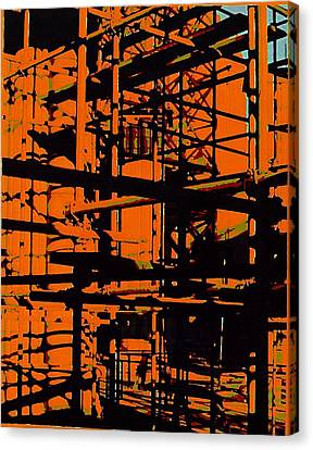Fine Art Original Digital Pipes Orange Maryland Canvas Print