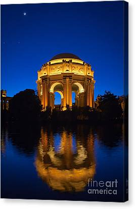 Reflecting Water Canvas Print - Fine Arts Palace by Inge Johnsson