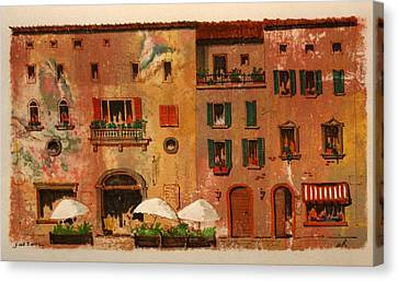 Fine Dining Canvas Print by William Renzulli