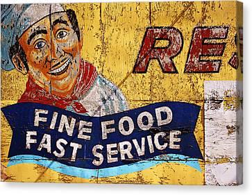 Fine Food Fast Service Canvas Print