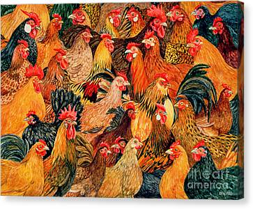 Rooster Canvas Print - Fine Fowl by Ditz