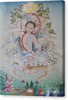 Milarepa Canvas Print - fine MiLAREPA scrolling paintings  by Dhonden Tenzin