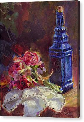 Finer Things Still Life By Karen Whitworth Canvas Print by Karen Whitworth