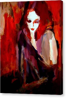 Canvas Print featuring the painting Finesse by Helena Wierzbicki