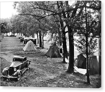 Keuka Canvas Print - Finger Lakes Camping by Underwood Archives
