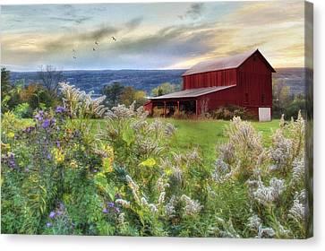 Finger Lakes Farm Canvas Print by Lori Deiter