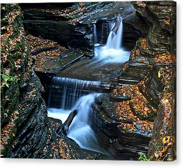 Finger Lakes Waterfalls Canvas Print by Frozen in Time Fine Art Photography