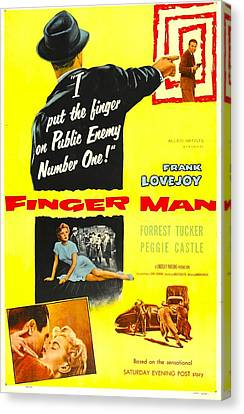 Finger Man, Us Poster, Bottom Inset Canvas Print by Everett