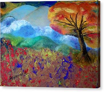 Fingerpainting Canvas Print by Annamarie Sidella-Felts