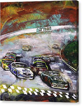 Finish Line Canvas Print by Gray  Artus