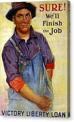 Finish The Job Canvas Print by Gerrit Albertus Beneker