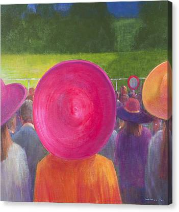 Finishing Post, Hats, 2014 Oil On Canvas Canvas Print by Lincoln Seligman