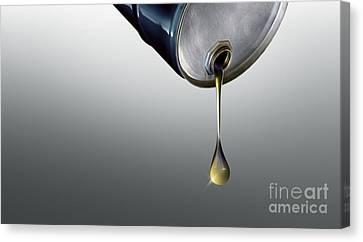 Finite Oil Resources, Conceptual Artwork Canvas Print by Wieslaw Smetek