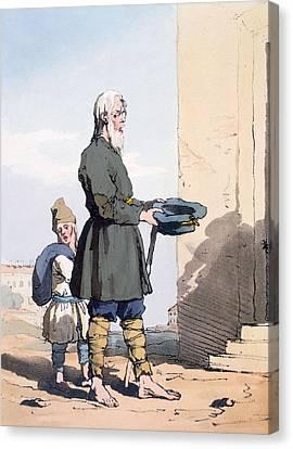 Finland Beggar Canvas Print by John Augustus Atkinson
