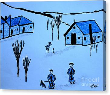 Canvas Print featuring the drawing Finland by Bill OConnor