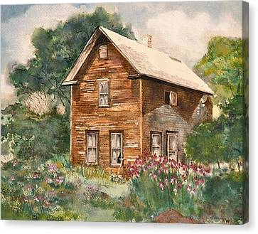Canvas Print featuring the painting Finlayson Old House by Susan Crossman Buscho