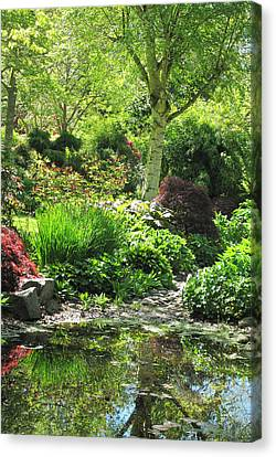 Finnerty Gardens Pond Canvas Print by Marilyn Wilson