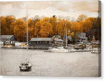 Finn's Harborside East Greenwich Rhode Island Canvas Print by Lourry Legarde
