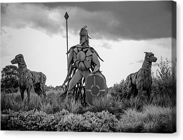 Fionn Mac Cumhaill And His Hounds Canvas Print