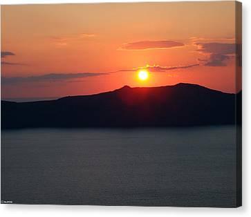Firastefani Sunset Canvas Print