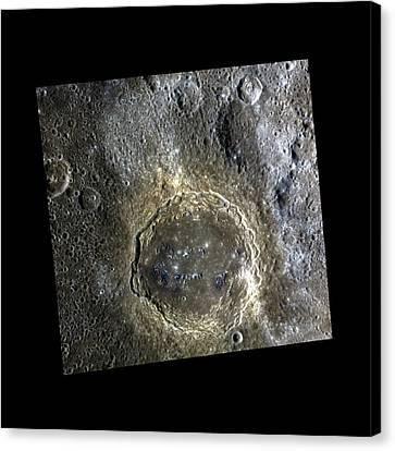 Firdousi Crater Canvas Print by Nasa/johns Hopkins University Applied Physics Laboratory/carnegie Institution Of Washington