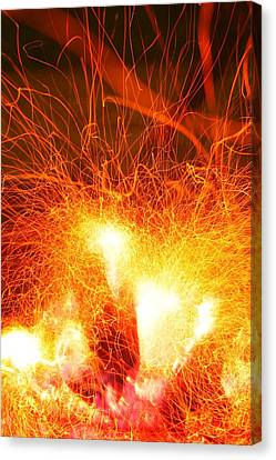 Canvas Print featuring the photograph Fire-1 by Denise Moore