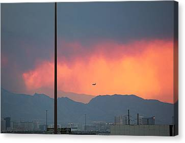Fire Above Vegas Canvas Print