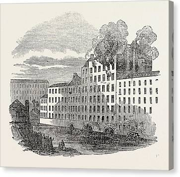 Fire And Boiler Explosion At Marslands Cotton Factory Canvas Print