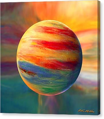 Fire And Ice Ball  Canvas Print by Robin Moline