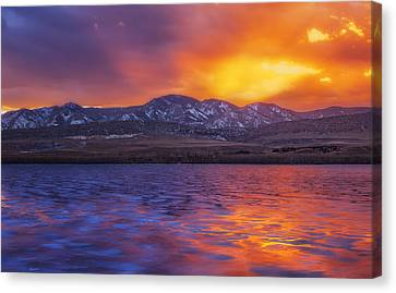 Fire And Ice Canvas Print by Darren  White