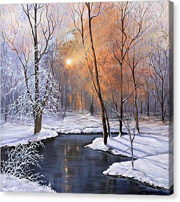 Fire And Ice Canvas Print by Julie Townsend