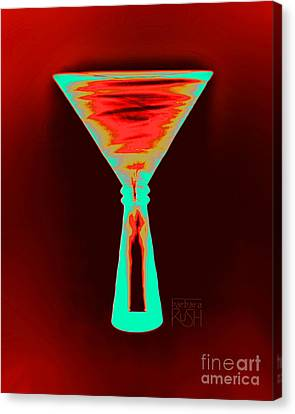 Fire And Ice Martini Canvas Print