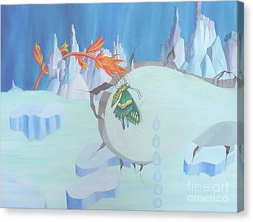 Fire And Ice Canvas Print by Richard Dotson