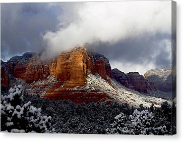 Canvas Print featuring the photograph Fire And Ice by Tom Kelly