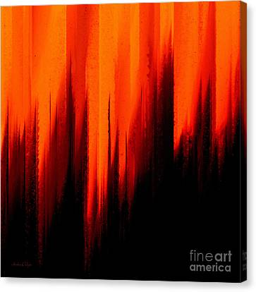 Fire And Rain Canvas Print by Andee Design