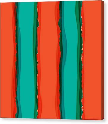 Fire And Rain Canvas Print by Bonnie Bruno